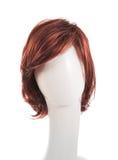 在时装模特头的头发假发 免版税图库摄影