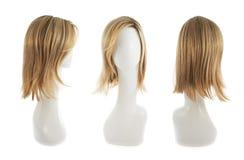 在时装模特头的头发假发 库存图片