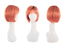 在时装模特头的头发假发 库存照片