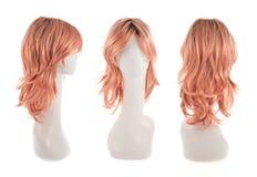 在时装模特头的头发假发 图库摄影