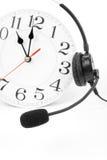 在时钟技术支持附近 免版税库存照片