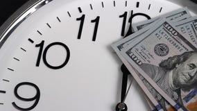 $100在时钟 2009的衡量单位年 影视素材