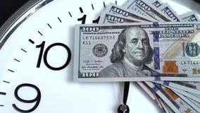 $100在时钟 2009的衡量单位年 股票视频