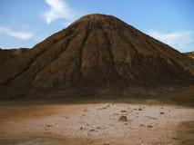 在时间盐溶的山 库存照片