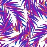 在时髦吹捧颜色的水彩热带叶子无缝的样式 皇族释放例证