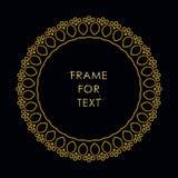 在时髦概述样式的典雅的金黄框架 库存照片