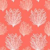 在时髦生存珊瑚2019种颜色的逗人喜爱的抽象无缝的背景 库存例证