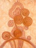 在时兴的女性衣物,塞内加尔的传统刺绣 免版税库存照片