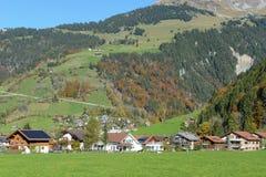 在昂热尔贝格村庄瑞士的环境美化 库存图片