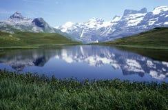 在昂热尔贝格的湖Engstlen 免版税库存图片