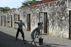 在昆仑岛海岛监狱的雕塑  免版税库存照片