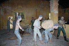 在昆仑岛海岛监狱的雕塑  库存照片