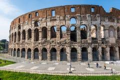 在明亮的古罗马ruines 免版税库存照片