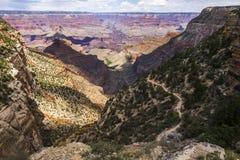 在明亮的天使足迹,大峡谷的看法 免版税库存图片