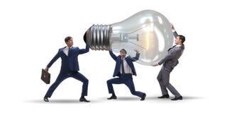 在明亮的想法概念的商人 免版税库存照片