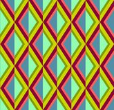 在明亮的桃红色,绿色和蓝色颜色的抽象菱形背景 库存照片