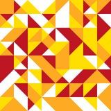 在明亮的温暖的颜色的三角无缝的背景 库存照片