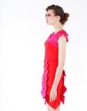 在明亮的礼服的时装模特儿 免版税库存照片