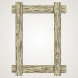 在明亮的背景的木制框架 免版税图库摄影