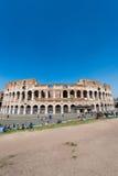 在明亮的著名colosseum 库存照片