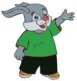 在明亮的衣裳的野兔 免版税库存图片