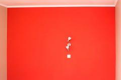 在明亮的颜色和墙壁光绘的墙壁 免版税库存照片