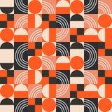 在明亮的颜色块的几何样式 库存例证