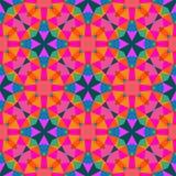 在明亮的颜色的多色几何样式。 向量例证