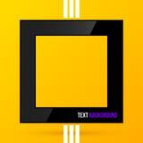 在明亮的黄色背景的方形的语篇框架图 EPS10 库存照片