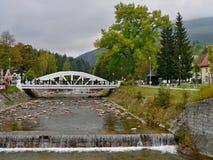 在易北河的捷克白的桥梁 免版税库存图片