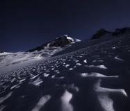 在星下的Mt贝克 图库摄影