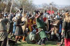 在星期二Rekawka -波兰传统,庆祝在克拉科夫在复活节以后 免版税库存图片