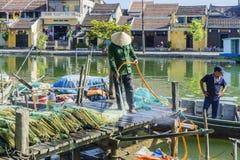 在星期四好的妙语河,会安市,越南 库存照片