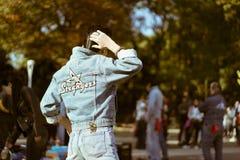 在星期天,代代木跳舞在公园的` s rockabillies 免版税库存照片