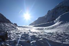 在星期日的冰川 免版税图库摄影