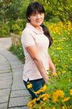 在春天东方妇女的 免版税库存照片