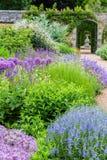 在春天期间的英国城堡庭院在苏克塞斯 库存图片