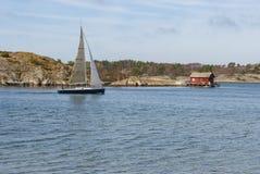 在春天期间的西海岸瑞典 库存图片