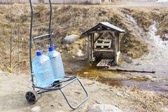 在春天的取指令水 库存照片
