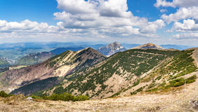 在春季的一点Fatra小山,斯洛伐克,欧洲 免版税库存照片
