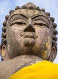 在春武里市,泰国的大面孔菩萨 免版税图库摄影