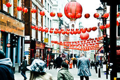 伦敦中国镇 库存照片