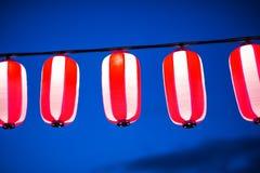 在春节节日,选择聚焦期间的红色灯笼 免版税图库摄影