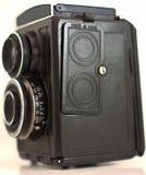 在是有白色背景的苏联制造的Olc照相机 免版税图库摄影