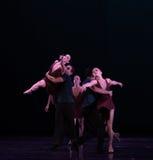 在是的狂奔最初古典芭蕾` Austen汇集` 免版税库存图片