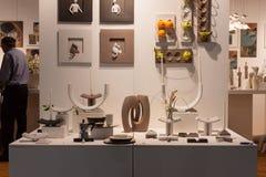 在显示在HOMI,家国际展示的装饰对象在米兰,意大利 库存图片