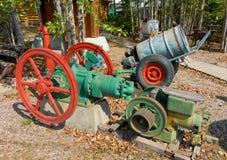在显示的一台老涡轮压缩机在堡垒纳尔逊,不列颠哥伦比亚省 图库摄影
