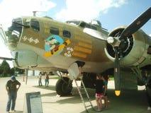 在显示的一架WWII B-17轰炸机 图库摄影