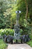 在显示的一门过时短程高射炮 库存图片