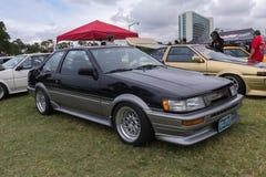 在显示的丰田卡罗拉1985年引擎 图库摄影